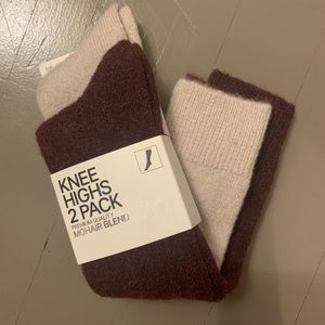 H&M Mohair Blend Knee High Socks